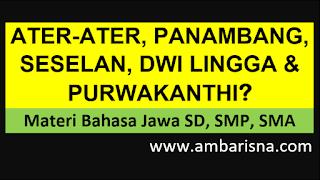 Apa iku Ater-ater, Panambang, Seselan, Dwi Lingga lan Purwakanthi?