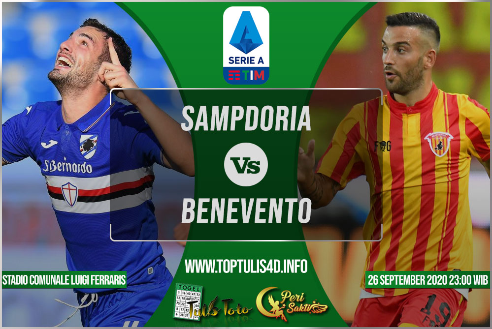 Prediksi Sampdoria vs Benevento 26 September 2020