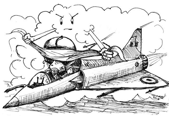 Πτώση Mirage είναι το θέμα της Γελοιογραφίας του IaTriDis με αφορμή την απώλεια ενός ακόμη πιλότου της Ελληνικής Αεροπορίας εν ώρα καθήκοντος μετά από πτώση του αεροσκάφους του λίγο έξω από την Σκύρο.