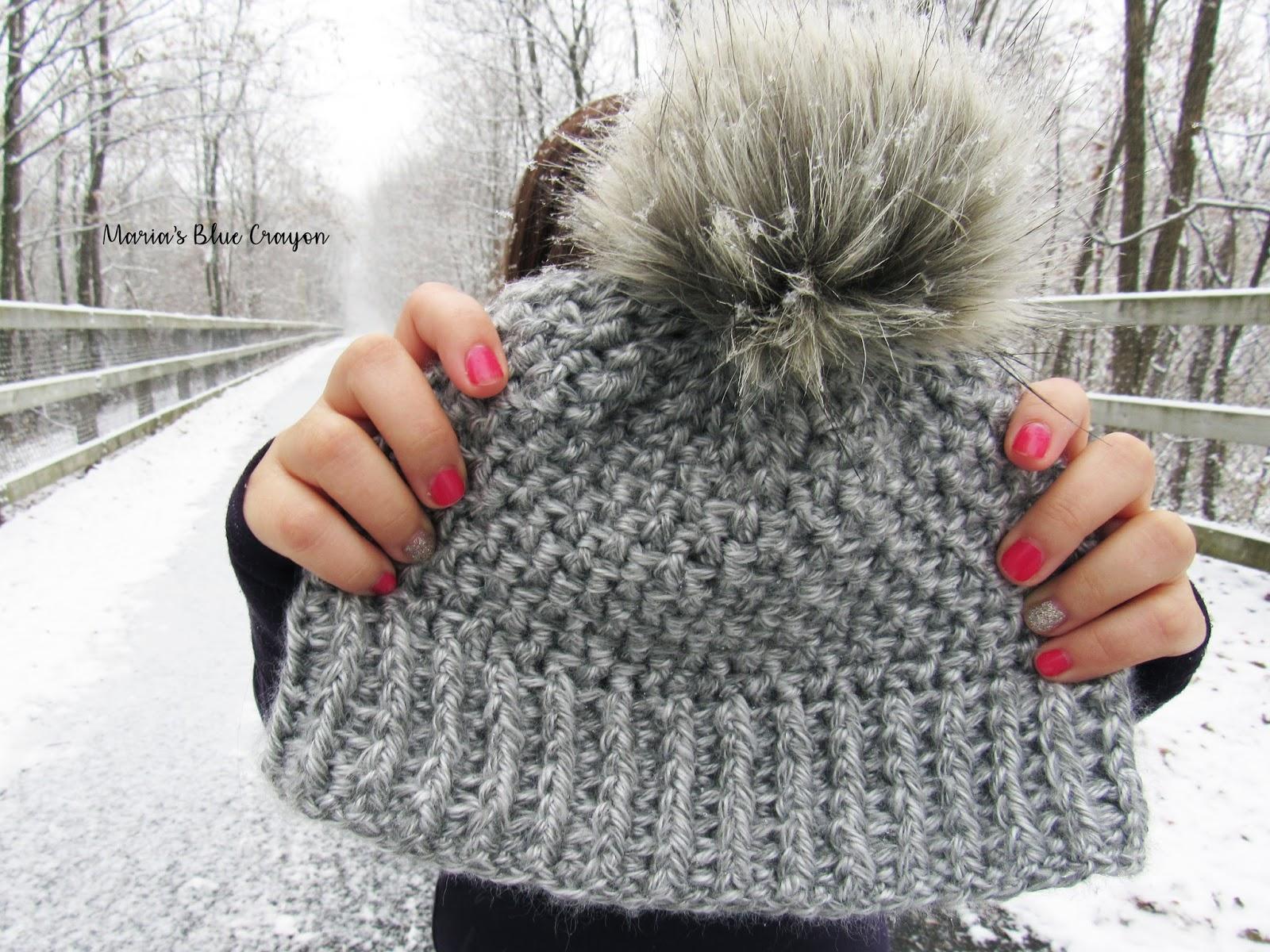 Snowden Beanie - Free Crochet Pattern - Maria\'s Blue Crayon