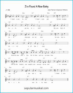 chord i've found a new baby lagu jazz standar
