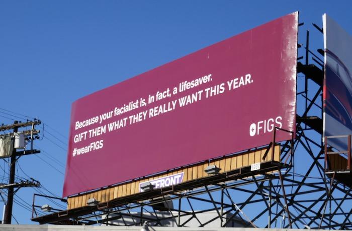 facialist lifesaver Figs billboard