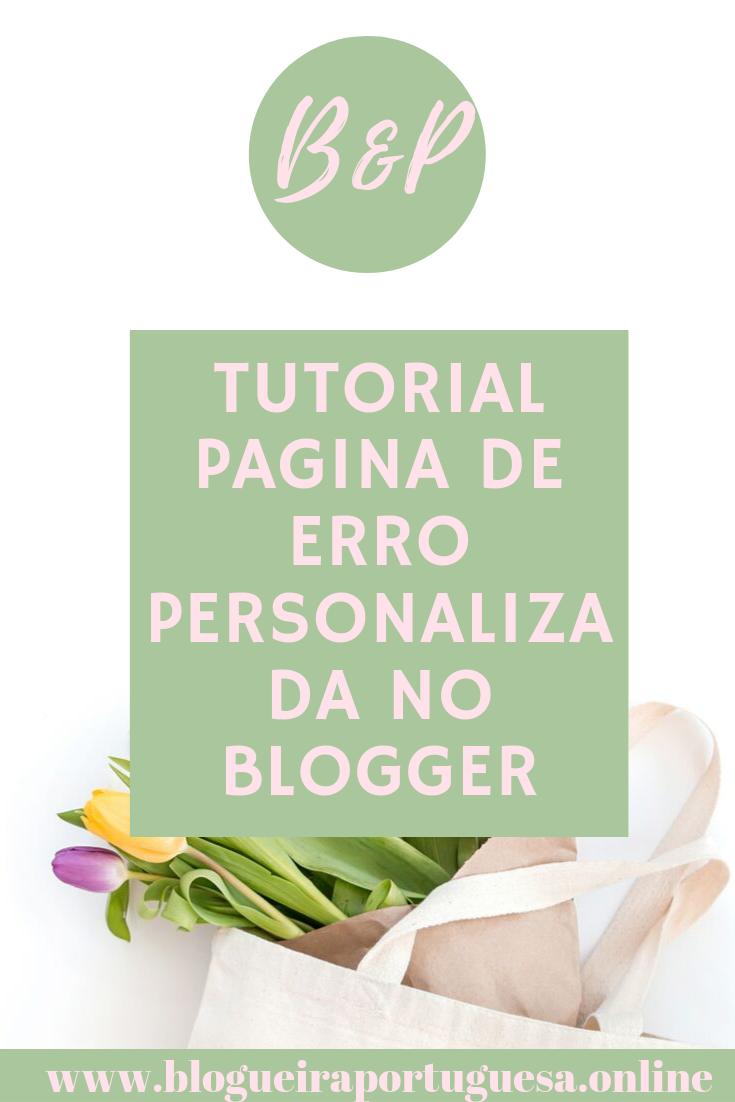 como personalizar pagina erro no Blogger (ALT)
