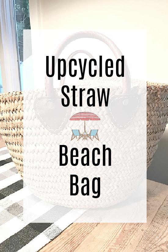 beach bag with overlay