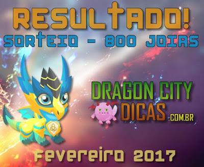 Resultado do Super Sorteio de 800 Joias - Fevereiro 2017