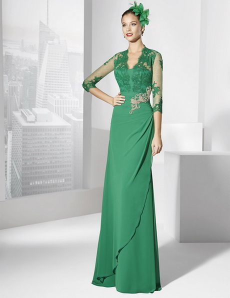 Vestido de boda verde