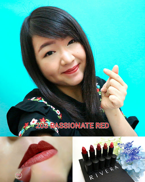 Rivera Absolute Matte Lipstick 203 Passionate Red