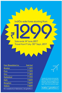 indigo fares from rs 1299/-