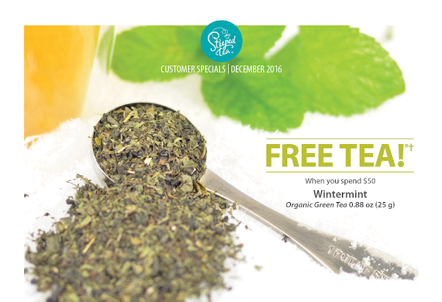 December Free Tea offer: Wintermint, Organic Green Tea