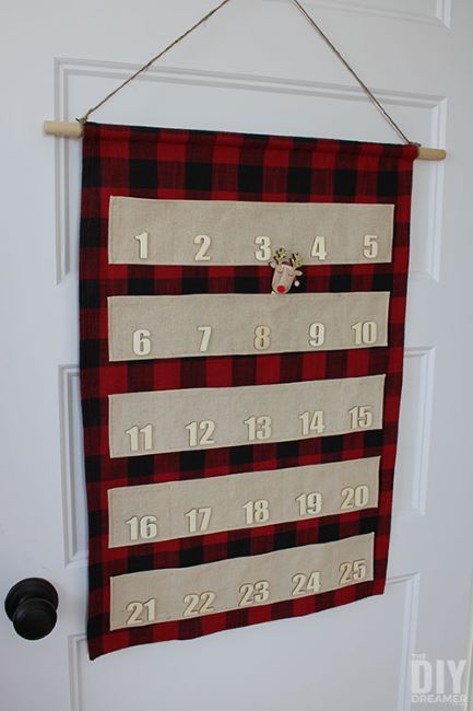 Sew this reusable advent calendar to use every Christmas