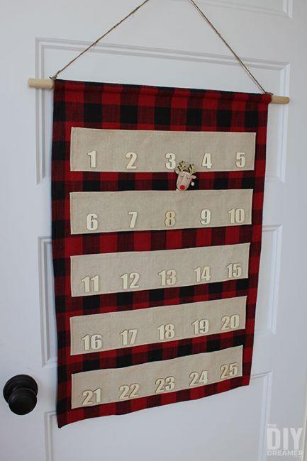 Sew this reusable advent calendar to use every Christmas