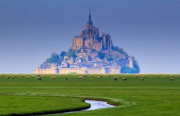 Island-fortress of Mont Saint-Michel, France