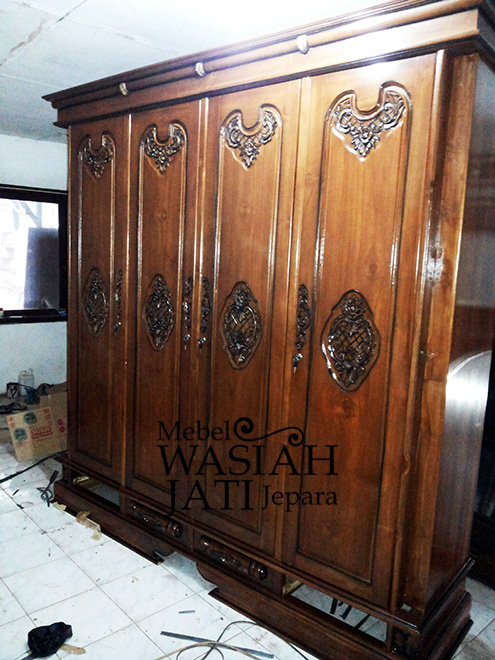 Almari Furniture Knockdown Toko Mebel Wasiah Jati Jepara