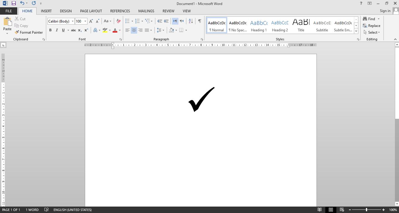 cara membuat simbol ceklis di microsoft word
