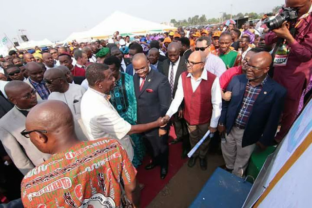 PASTOR ADEBOYE LAYS FOUNDATION FOR INTL. WORSHIP CENTER IN A'IBOM