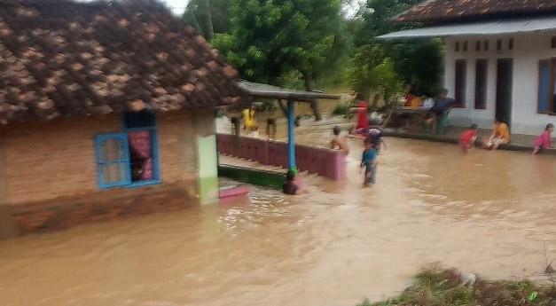 Hujan Mengguyur Semalaman, Puluhan Rumah di Lampura Terendam Air