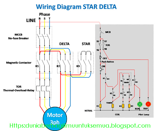 Wiring diagram rangkaian star delta untuk starting motor 3ph wiring diagram star delta ccuart Gallery