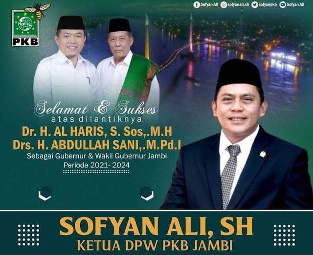 Sofyan Ali: Selamat Bertugas Pemimpin Baru Jambi