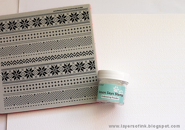 Layers of ink - Winter Panda Card tutorial by Anna-Karin with Simon Says Stamp Stamptember stamps and dies