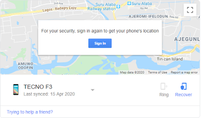 how to track stolen phone in Nigeria