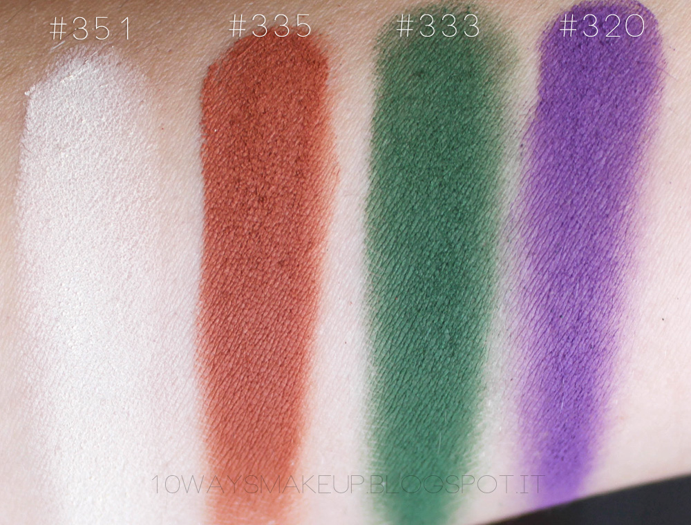 Inglot freedom eyeshadow swatch