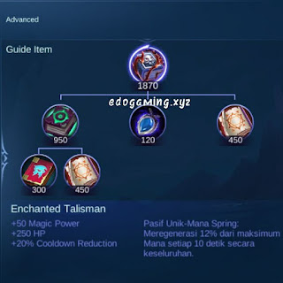 penjelasan lengkap item mobile legends item enchanted talisman