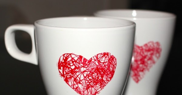Messy Little Monster: Heart Scribble Mug