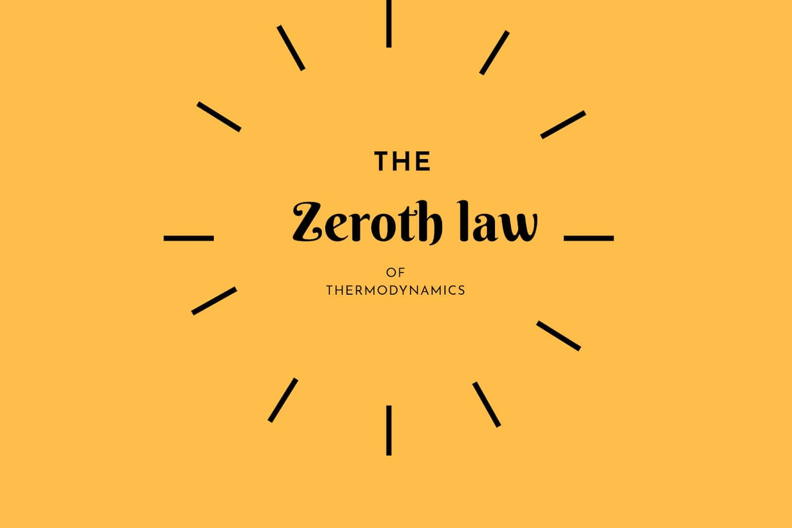Zeroth law of thermodynamics - explained | The Mechanical post