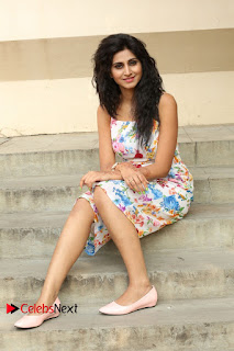 Actress Shamili Stills in Floral Short Dress at Sree Ramaraksha Song Launch 0169