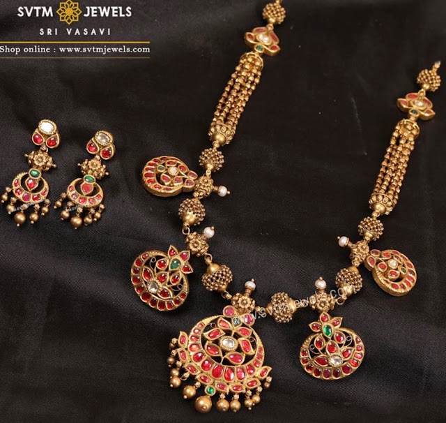 Kundan Temple Jewellery by SVTM jewels