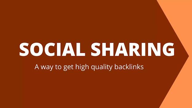 social sharing backlink