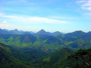 Vista do Mirante do Peito do Pombo, no Sana