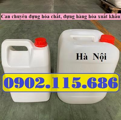 Can nhựa vuông 5lit, can hóa chất 5lit, can 5lit đựng hàng xuất khẩu, can 5lit đựng tinh dầu, can 5lit đựng mật ong, can 5lit đựng dung môi, 0