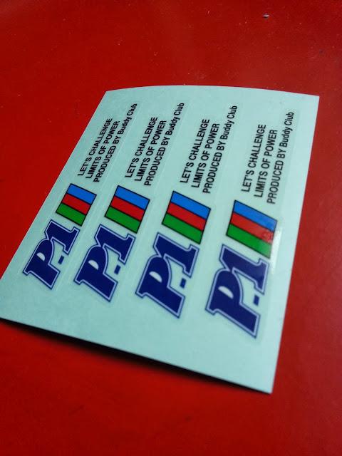 P1 Racing - FK by Buddy Club 6 decal sticker
