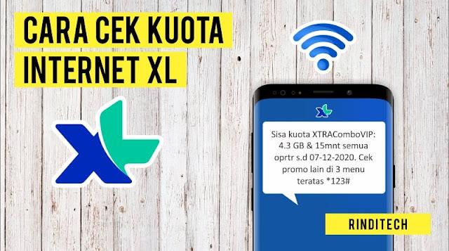 Cara Mudah Cek Kuota XL Paket Internet dan Masa Aktif