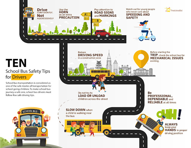 10 School Bus Safety Tips for Drivers #infographic #Transportation #Tips for Drivers #Safety #School Bus Safety