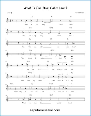 What Is This Thing Called Love? chords jazz standar