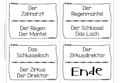 Beispiel für Lesespiel mit zusammengesetzten Nomen