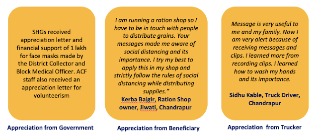ACF Appreciation from Beneficiaries