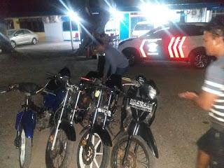 Penertiban Balap Liar, Sat Lantas Polres Jeneponto Amankan 4 Sepeda Motor