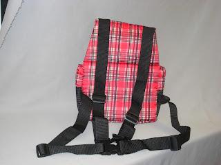 front pocket pet carrier back view