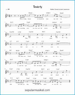 chord tenderly lagu jazz standar