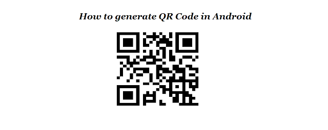 How to generate QR Code in Android