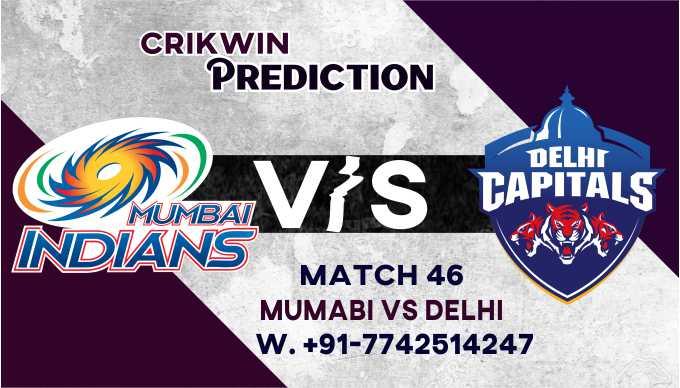 Mumbai vs Delhi IPL T20 46th Match Today 100% Match Prediction Who will win - Cricfrog