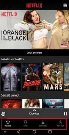 Netflix aggiunge una nuova barra di navigazione inferiore su Android.