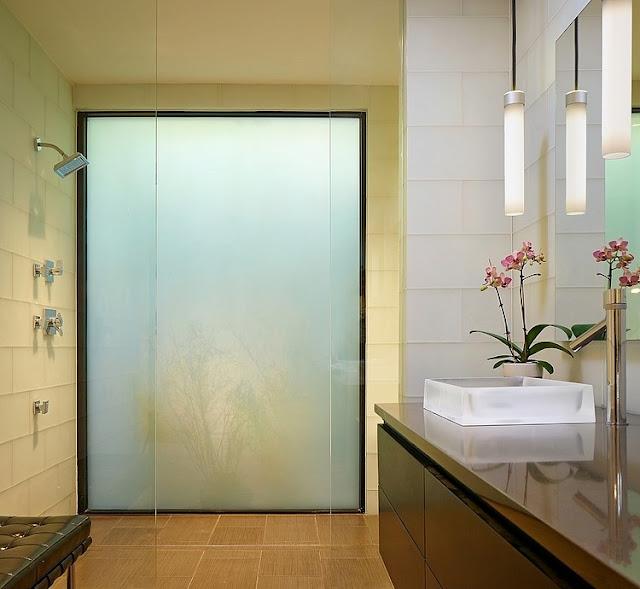 แบบห้องน้ำกระจกขุ่น