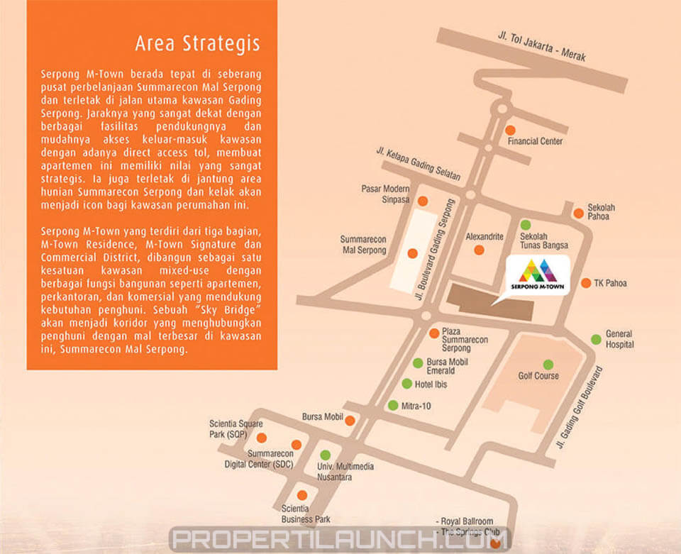 Peta Lokasi Serpong M-Town