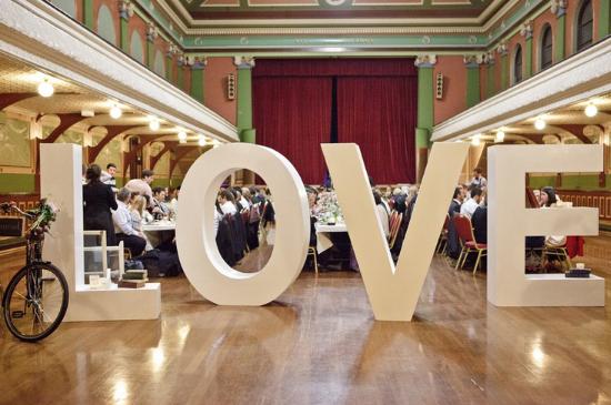 Lettere giganti per matrimoni, oversized wedding letters