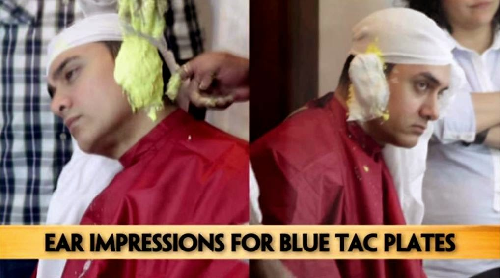 Aamir Khan's PK: Ear impression for blue tac plates