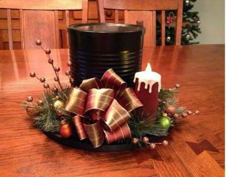 Fatto in casa come realizzare un centrotavola natalizio a for Oggetti da creare in casa